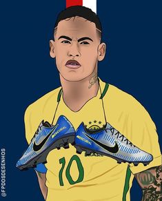 Football Is Life, Football Art, Football Players, Neymar Jr, Soccer Drawing, Isco, Football Pictures, Soccer Ball, Messi