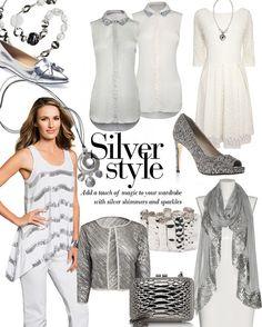 Silver styles from EziBuy #silver #shiny