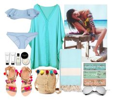 """Baby, let's go to the beach!"" by hancicaf ❤ liked on Polyvore featuring Who What Wear, Chicnova Fashion, Muzungu Sisters, Bohemia, Elina Linardaki, Bobbi Brown Cosmetics and Lisa Marie Fernandez"