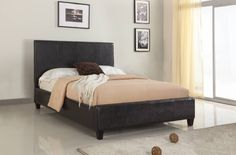 The Upholstered Mambo bed under the Upholstered Collection comes in low profile and platform bed These beds are all fully upholstered in either chocolate or ivory finishes.  As with all beds in the Upholstered Collection, all Mambo beds are constructed from quality hardwood frames & feature center leg supports with discreet metal-to-metal siderail brackets. The Mambo bed was designed with a sleek, minimalist approach giving this collection the ability to blend in with any bedroom decor.