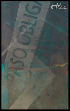 """""""Paso Obligatorio"""" J. Doña. Técnica mixta sobre tabla. Dimensiones: 73,5 x 122 cm"""