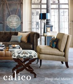 LOVE this mix of glam and rustic - my favorite décor look!!!!! soothing colors too! Things that Matter. Enter to win a Calico gift card. #CalicoCatalog
