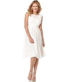 Possible bridesmaid dress. Evan Picone with modesty panel