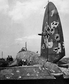 Destroyed Luftwaffe He 111 aircraft