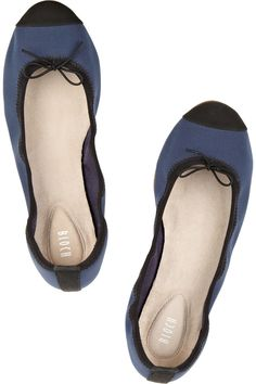 Bloch|Two-tone canvas ballet flats|NET-A-PORTER.COM