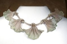 5 Leaf Ginkgo Necklace by Sarah Cavender: Metal Necklace available at www.artfulhome.com