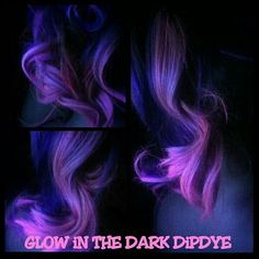 Glow in the dark hair by Britnee Nesbitt