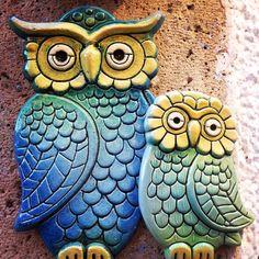 Owls ceramic.