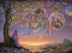 Bubble Tree by Josephine Wall. mural inspiration maybe?