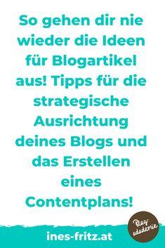 Du schaffst es einfach nicht, regelmäßig einen Blogartikel zu schreiben weil dir die Themen fehlen? Weißt du nicht, worüber genau du bloggen sollst, weil du dir über deinen eigene Blogstrategie noch nicht im Klaren bist? Mit der richtigen strategisches Ausrichtung deines Blogs und einem soliden Contentplan schaffst du es endlich, Woche für Woche Blogartikel rauszuhauen, die deine Leser begeistern! Affiliate Marketing, Content Marketing, Videos, Organisation, Simple, Become Rich, Earning Money, Blogging, Writing