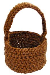 free crocheted basket pattern, for Easter. diff colors, add appliques. so many possibilities.