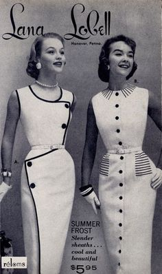 images of Lana Lobell catalog vintage fashion - 1956...