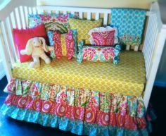 Custom Crib Bedding - Kumari Garden