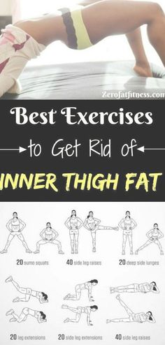 Best Thigh Fat Workouts to lose inner thigh fat hips and tone legs at home. These exercises will reduce thighs and hips fast in 7 It! Reduce Thighs, Tone Thighs, Reduce Belly Fat, Lose Belly Fat, How To Reduce Hips, Shred Workout, Fat Workout, Boxing Workout, Weight Lifting