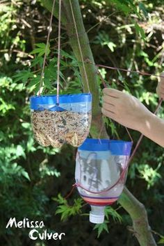 How to make a birdhouse out recycleables bird feeder out for Making a bird feeder out of recycled materials