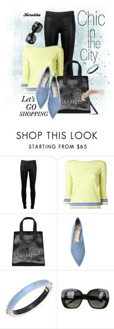 """nr 1249 / Let's Go Shopping"" by kornitka ❤ liked on Polyvore featuring Goldsign, Ermanno Scervino, Kenzo, Nicholas Kirkwood, Alexis Bittar and Bottega Veneta"