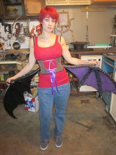 DIY Morrigan Aensland Costume Wing Harness - DIY Halloween