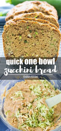The best healthy zucchini bread made in one bowl! This is the best easy recipe for zucchini bread! This healthy applesauce zucchini bread can be made with chocolate chips or banana. Fun Easy Recipes, Snack Recipes, Easy Meals, Cooking Recipes, Easy Desserts, Zucchini Banana Bread, Zucchini Bread Recipes, Sugar Free Zucchini Bread, Healthy Zucchini Bread