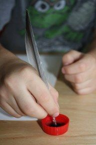 Writing w/a feather - Re-pinned by #PediaStaff.  Visit http://ht.ly/63sNt for all our pediatric therapy pins