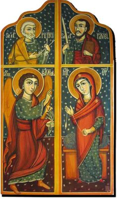 The Anounciation and Saint Peter and Paul. by ByzantineArt on Etsy, $550.00
