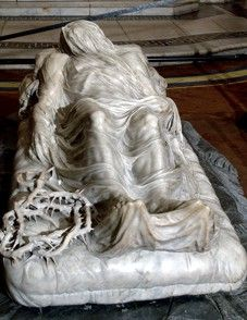 Placed at the centre of the nave of the Sansevero Chapel in downtown Naples, the Veiled Christ is one of the most famous and impressive works of art in the world