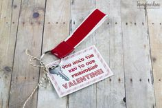 Duck Tape Keychain Valentine and free printable!