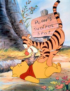 Winnie The Pooh ~ Pooh's Thotful Spot. Tigger and Pooh Winnie The Pooh Pictures, Winnie The Pooh Quotes, Winnie The Pooh Friends, Eeyore Pictures, Tigger And Pooh, Winne The Pooh, Pooh Bear, Tigger Disney, Disney Love