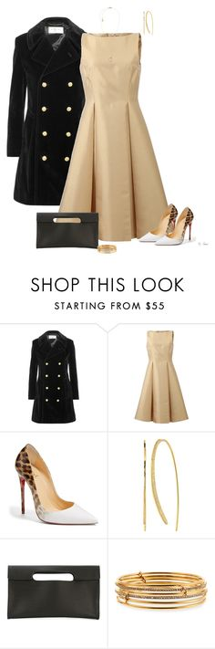 """""""Leopard"""" by ksims-1 ❤ liked on Polyvore featuring Yves Saint Laurent, Michael Kors, Christian Louboutin, Gorjana, Isaac Reina and Kate Spade"""