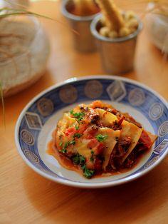 牛すね肉のラグーでラザニア(Lasagna of beef shank)