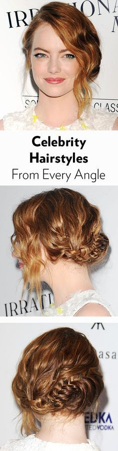 See Emma Stone, Amanda Seyfried, Lea Michele, and more celebrity hairstyles from every angle