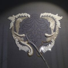 Hand-Embroidery made at Maison Lesage Studio, Paris -- now nearly 160 years in business. Ownership has changed twice; today it is part of Chanel. All work is made-for- order to designer houses. Tambour Beading, Tambour Embroidery, Couture Embroidery, Gold Embroidery, Embroidery Fashion, Embroidery Stitches, Embroidery Patterns, Machine Embroidery, Gold Work