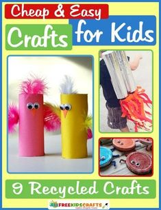We updated our thrifty eBook! Cheap and Easy Crafts for Kids: 9 Recycled Crafts has great ideas your little ones will love!