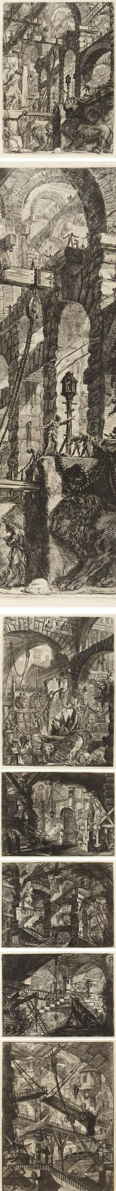 lines and colors :: a blog about drawing, painting, illustration, comics, concept art and other visual arts » Piranesi's Imaginary Prisons at Princeton University Art Museum