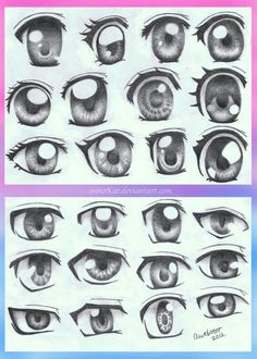 Anime eyes; How to Draw Manga/Anime