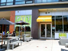 "PYT stands for ""pick your topping,"" and that's exactly what you can do at this Philadelphia burger joint, which offers some of the more outrageous burger combinations, such as chocolate-covered bacon and lobster."