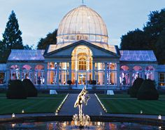 Chiswick House conservatory: elegant day & night!