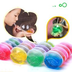 Nietoksyczny Dmuchanie Baniek Kryształ Szlam Błoto Super Lekki Gliny Draw Śmieszne Zabawki Ręcznie Wyciągnął Z Makaronem Kryształ Playdough błoto Zabawki