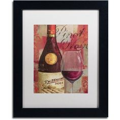 Trademark Fine Art Vin Abstract I Canvas Art by Lisa Audit, White Matte, Black Frame, Size: 11 x 14, Multicolor