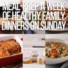 Week Of Healthy Meals, Healthy Family Dinners, Healthy Dinner Recipes, Healthy Snacks, Sunday Meal Prep, Meal Prep For The Week, Easy Meal Prep, Sunday Dinners, Fitness Meal Prep