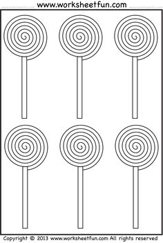 Candy Tracing and Coloring – Two Halloween Worksheets / FREE Printable Worksheets