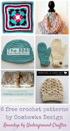 Roundup: 6 free crochet patterns by Oombawka Design via Underground Crafter - Find us on Instagram too!