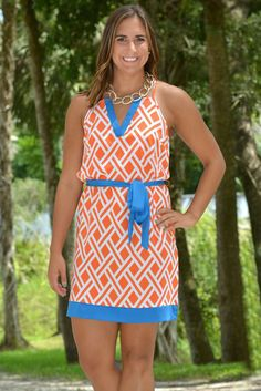 Homegrown Honey Orange Blue Gators Game Day Dress - Shop Simply Me –boutique – www.SHOPSIMPLYME.com - #ishopsimplyme – Naples, FL My Boutique, Fashion Boutique, Got The Look, Professional Outfits, Orange Dress, Playing Dress Up, Cute Outfits, Vogue, Naples