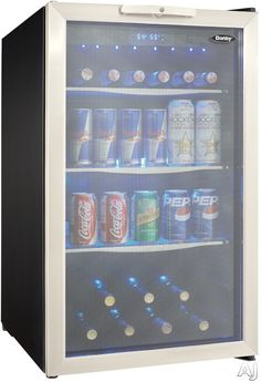 ... Center Holds A Maximum Of 124 Beverage Cans, Or 7 Bottles Of Wine And  88 Beverage Cans. It Also Features A Tempered Glass Door With A Stainless  Steel ...