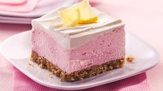 Pink Lemonade Pie ~ The pretzel crust is a salty contrast to the sweet, fluffy filling in a pretty pink pie.