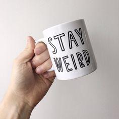 Schlichte Tasse mit lustigem Spruch. Gefunden bei Etsy.