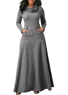 NEW Elegant Dress Full Sleeve Dresses Winter Women Scarf Collar Dress Casual Vestidos XXL Dresses Women Vestido De Festa //Price: $46.00 & FREE Shipping //     #beauty