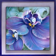 """OIL PAINTING """"The Violet"""" on Behance by Anna Miarczynska"""