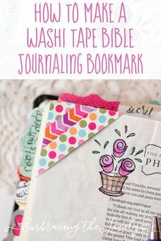 How to Make a Washi Tape Bible Journaling Bookmark