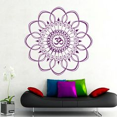 Wall Decals Mandala Sticker Oum Om Decal Indian by BestDecals