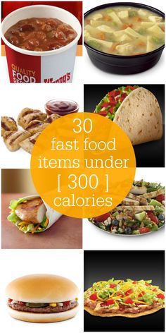 A roundup of 30 Fast Food Items Under 300 Calories on { lillluna.com }